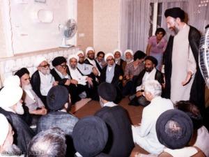 شهید بهشتی در محضر امام راحل